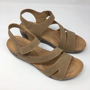 Patrizia by Spring Step Camel Sandals